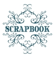 Scrapbook Calligraphic vintage design element vector image