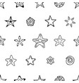 seamless festive pattern with hand-drawn tars and vector image vector image