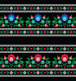 Seamless Polish folk art pattern with flowers vector image vector image