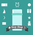 set icons on a theme deep sleep vector image