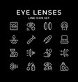 set line icons contact lenses vector image vector image
