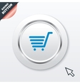 Shopping Cart sign icon Online buying button vector image