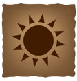 Sun sign Vintage effect vector image vector image