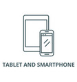 tablet and smartphone line icon linear vector image vector image