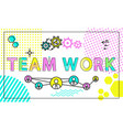 team work poster and icons vector image
