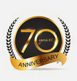 template 70 years anniversary vector image vector image