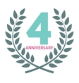 Template Logo 4 Anniversary in Laurel Wreath vector image vector image