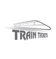 train tickets design template vector image