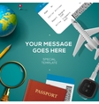 Travelling template travel and vacation concept vector image vector image
