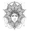 tribal fusion boho goddess beautiful divine diva vector image vector image