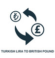turkish lira to british pound icon mobile app vector image
