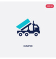 two color dumper icon from tools concept isolated vector image
