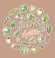 vegetable with a place for vector image vector image