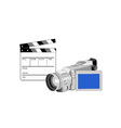 Video Camera Movie Clapboard Retro vector image vector image