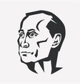 vladimir putin stylized portrait president of vector image