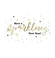 with calligraphy sparkling inside decoration vector image vector image
