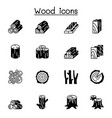wood icon set graphic design vector image