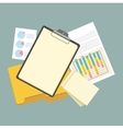 Work Table Tablet and Document Design Flat vector image vector image