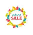 autumn leaves sale vector image