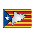 map and flag of catalonia spain independence vector image