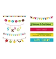 Colorful bunting and garlands for Jewish holiday