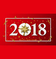 2018 happy new year red background vector image