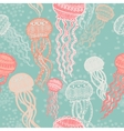 Abstract graphically jellyfish pattern vector image vector image