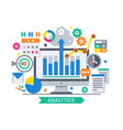 analytics information tools vector image vector image