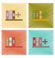 assembly flat shading style icon shelf folder vector image vector image