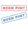 beer pint textile stamps vector image vector image
