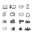big data icon set entertainment vector image vector image