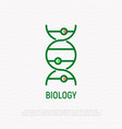 biology thin line icon dna structure vector image