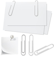 Blanks white paper pin and clip vector image vector image