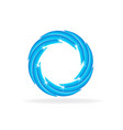 blue swirly wave vector image vector image