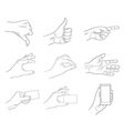 business hand gestures contour vector image
