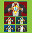 Businessman hero cover vector image vector image