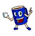 Cartoon tea cup vector image vector image