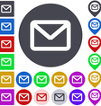 Color mail icon set vector image vector image