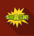comic boom smash icon flat style vector image vector image