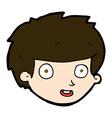 comic cartoon happy boys face vector image vector image