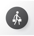 courier icon symbol premium quality isolated vector image