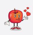 crab apple cartoon mascot character teasing vector image vector image