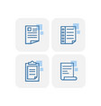 creative blue stationery icons design vector image vector image