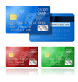 Credit Card 2 sides vector image vector image