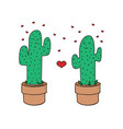 cute cactus pefect for valentine s vector image