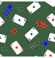 different playing cards pattern vector image vector image