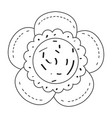 drawing of a flower vector image vector image