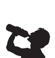 Drink water silhouette vector image
