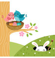easter couple birds vector image vector image