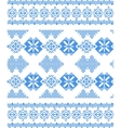 embroidered handmade cross-stitch ethnic pattern vector image vector image